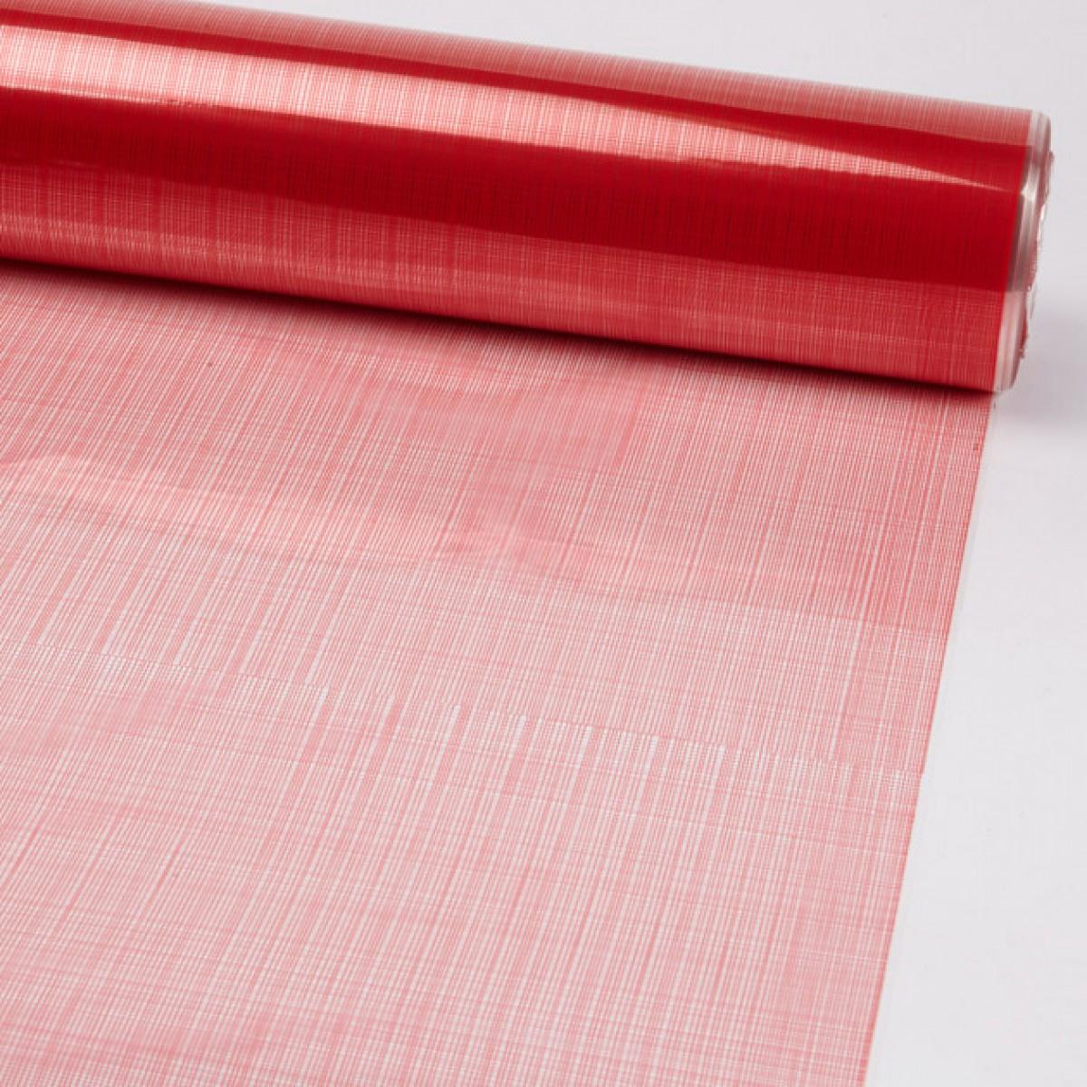 Hessian Red 80cmx25m 50mic Film - 1 Roll