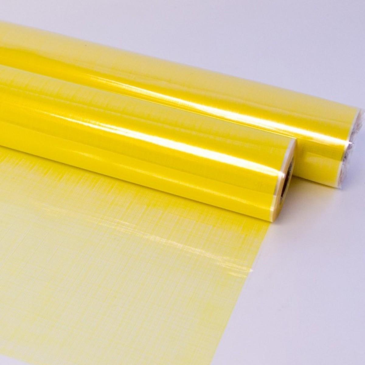 Hessian Yellow 80cmx25m 50mic Film - 1 Roll