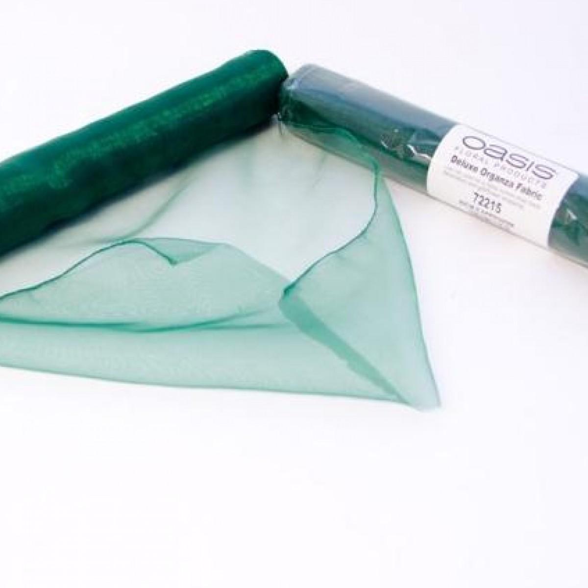 Emerald 38cmx9m Organza Fabric - 1 Roll