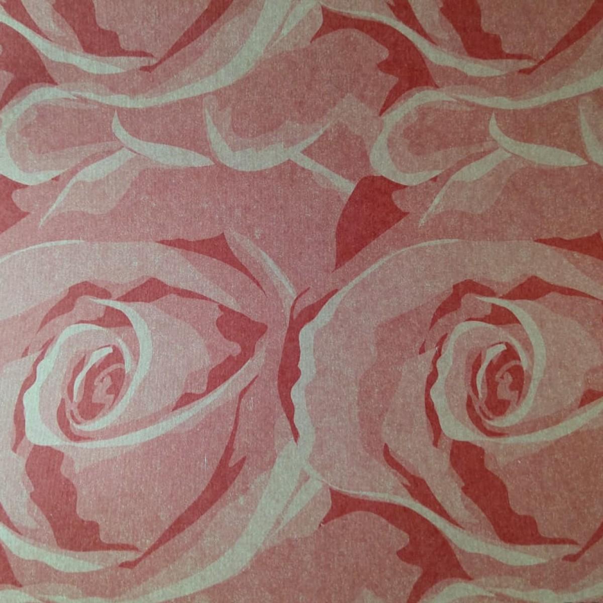 Red Floral Print 50cmx25m Kraft Paper - 1 Roll