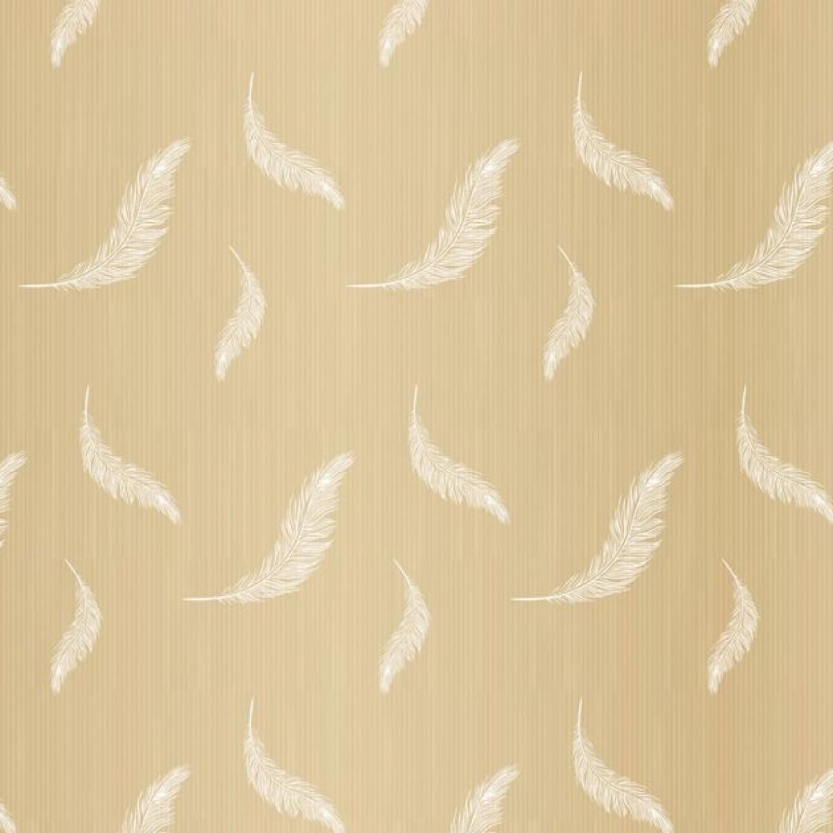 Feather Print White 50cmx25m Kraft Paper - 1 Roll
