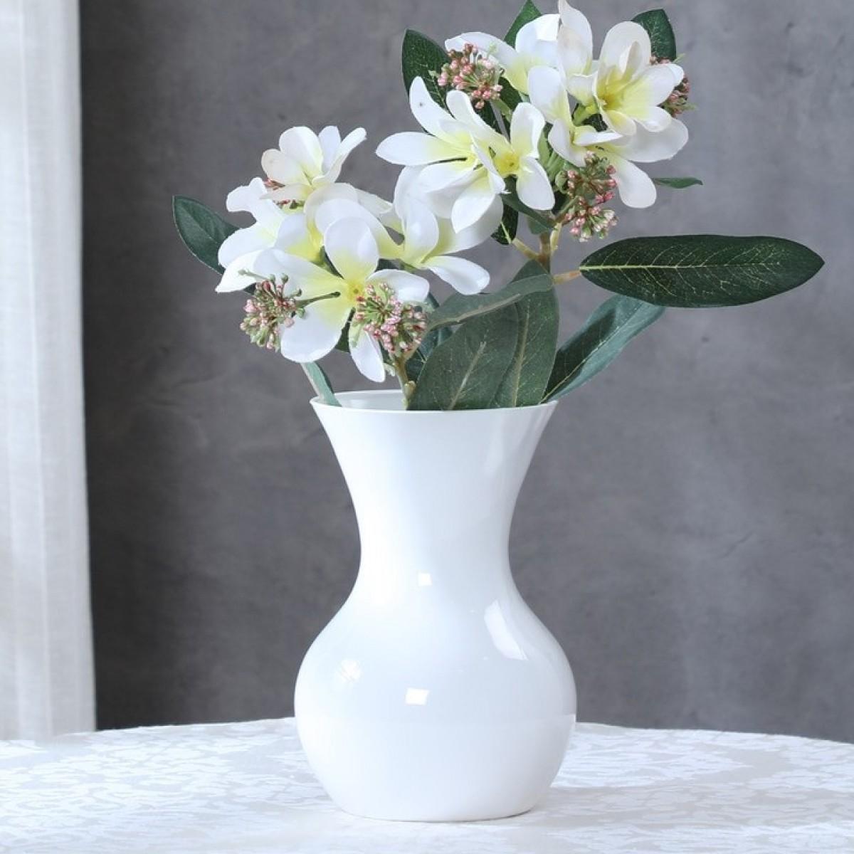 Sweetheart White 11x18cm Acrylic Vase - 1 No