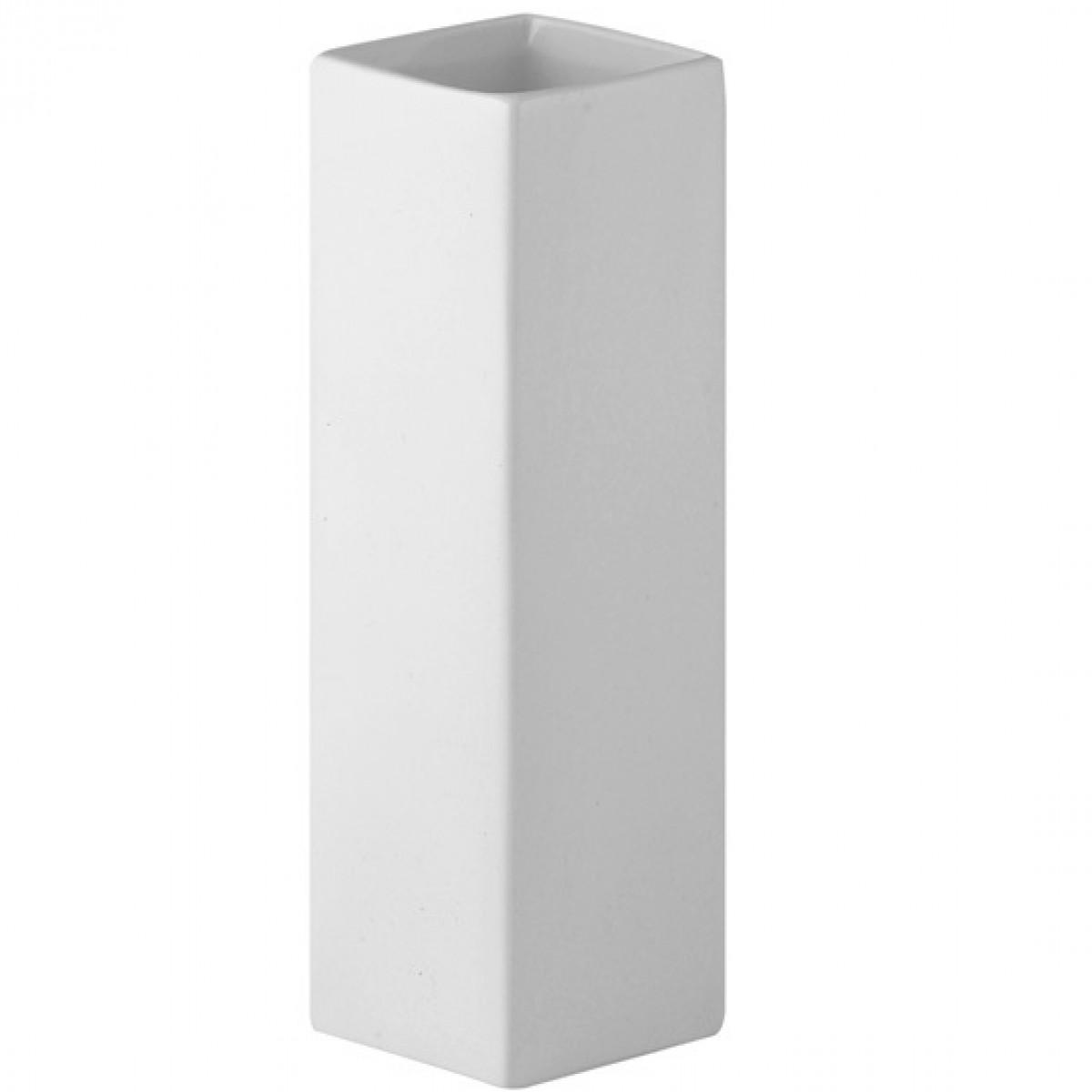 Cube White 12x12x25cm Acrylic Vase - 1 No