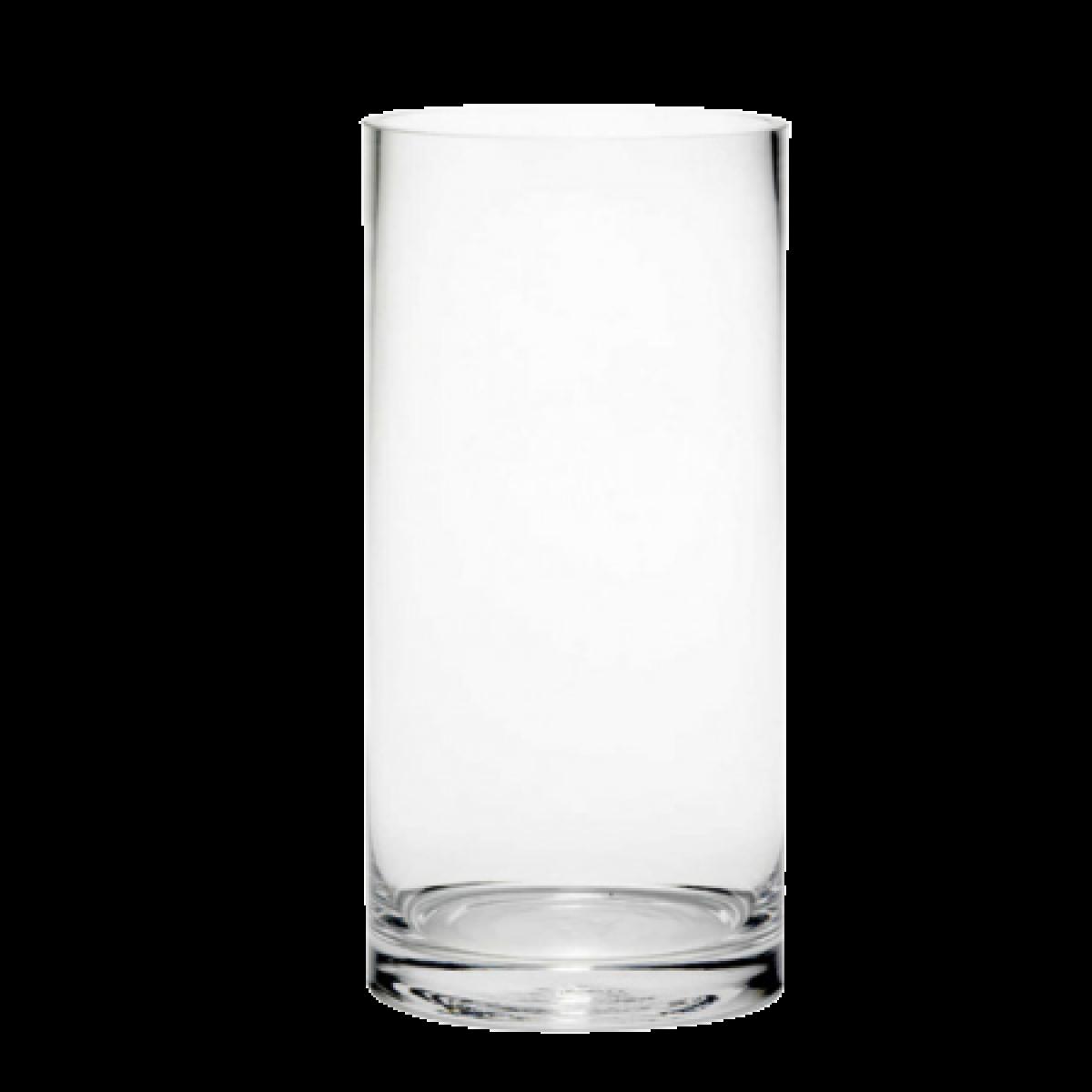 Cylinder Clear 12x25cm Acrylic Vase - 1 No