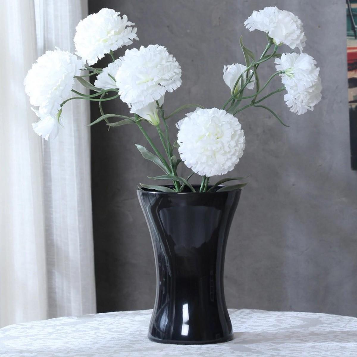 Hantied Black 14x20cm Acrylic Vase - 1 No
