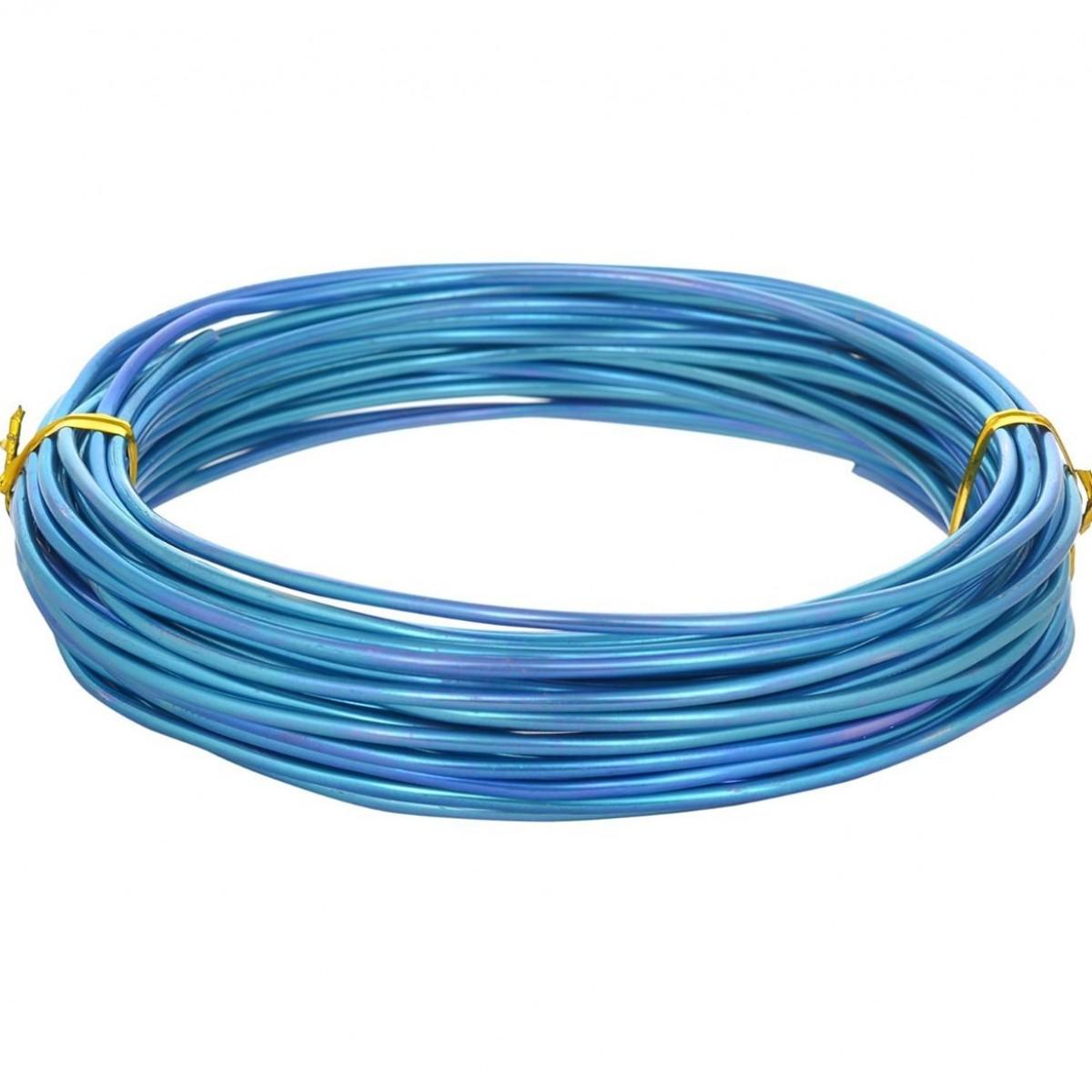 Aluminium Wire Turquoise 12guage 250mtr 5 Nos