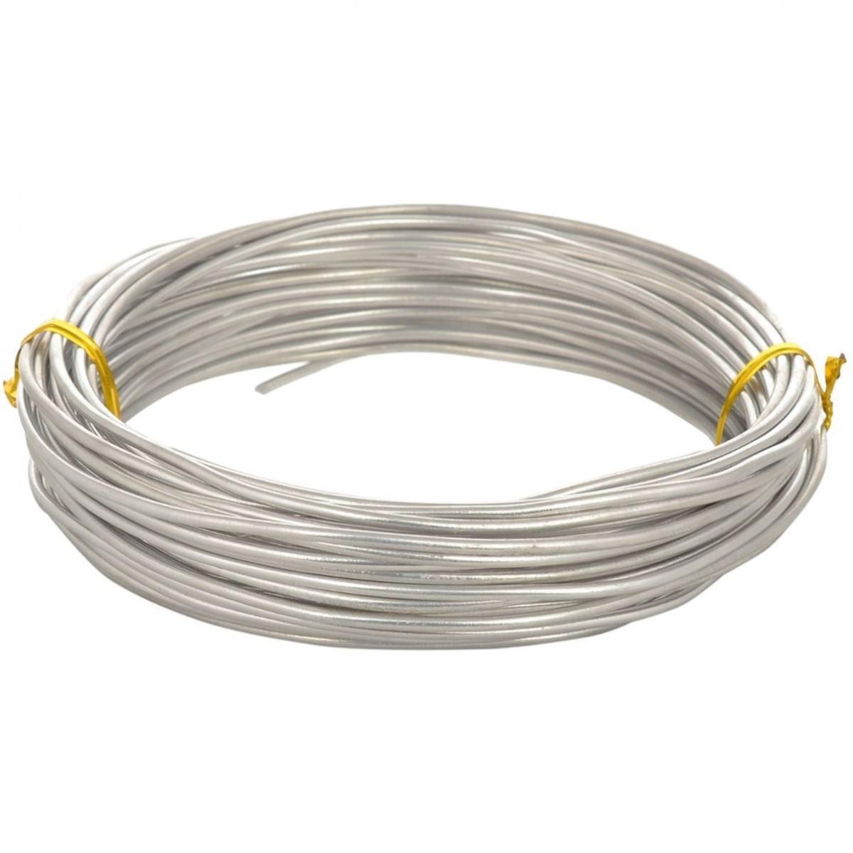 Aluminium Wire Silver 12guage 250mtr 5 Nos