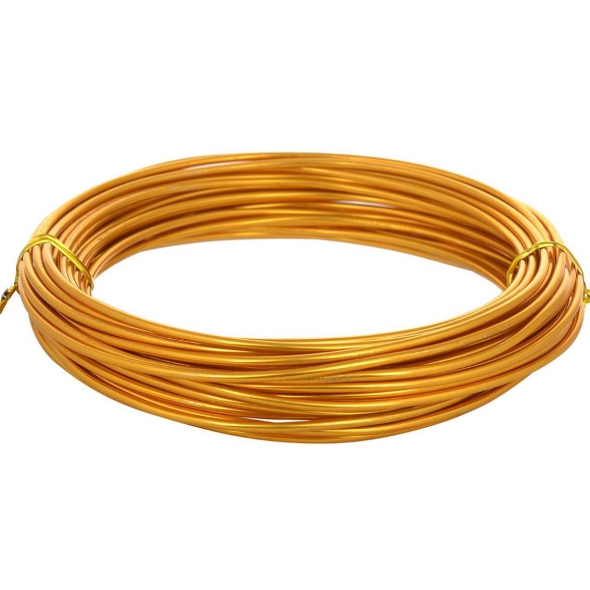 Aluminium Wire Gold 12guage 250mtr 5 Nos