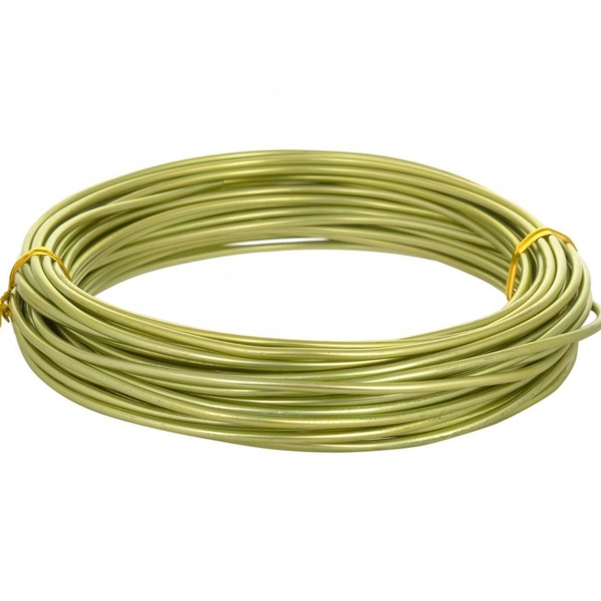Aluminium Wire Apple Green 12guage 250mtr 5 Nos