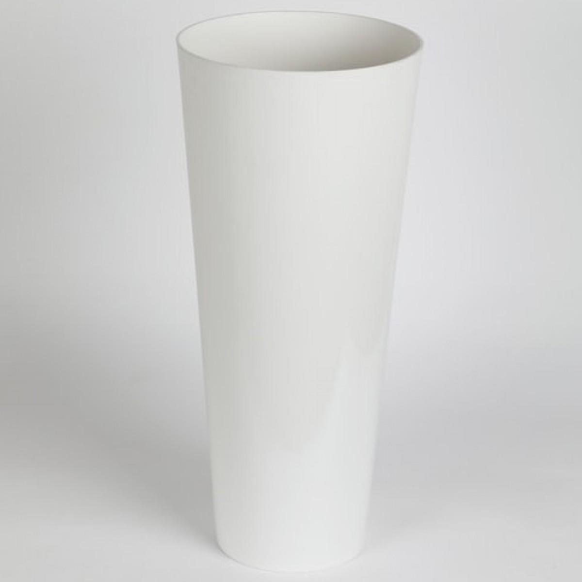 Conical White 25x55cm Acrylic Vase - 1 No