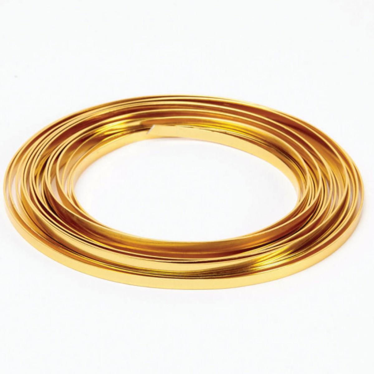 Flat Aluminium Wire Gold 1mmx5mmx100g 1 No