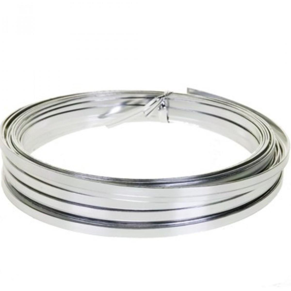 Flat Aluminium Wire Silver 1mmx5mmx100g 1 No
