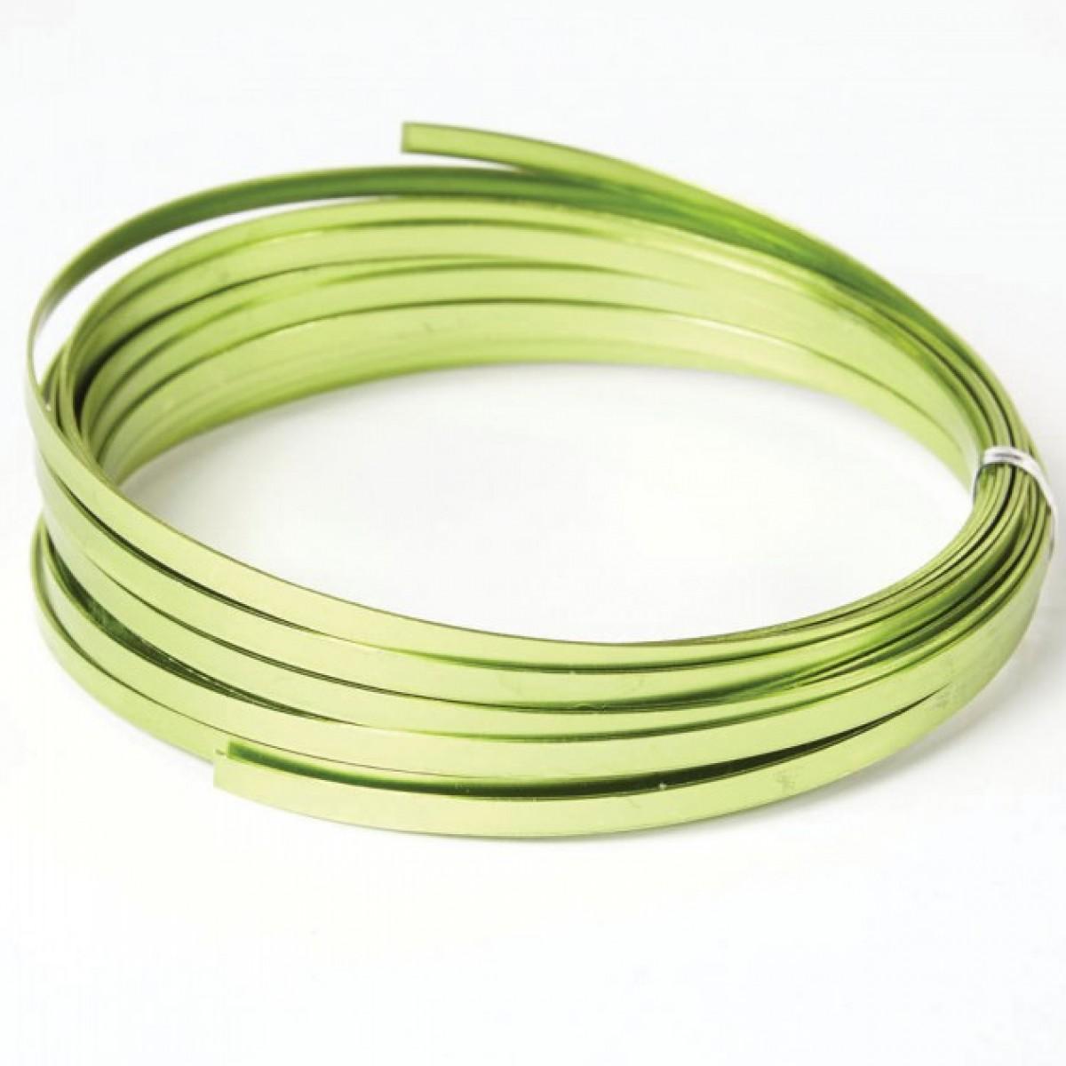 Flat Aluminium Wire Apple Green 1mmx5mmx100g 1 No