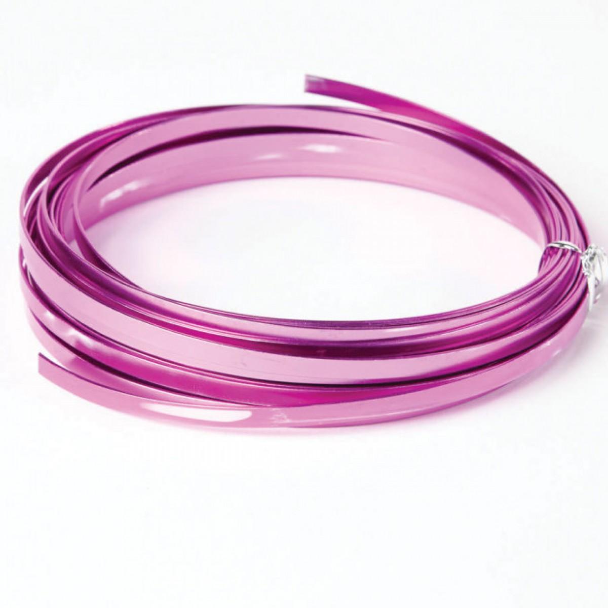 Flat Aluminium Wire Lavender 1mmx5mmx100g 1 No