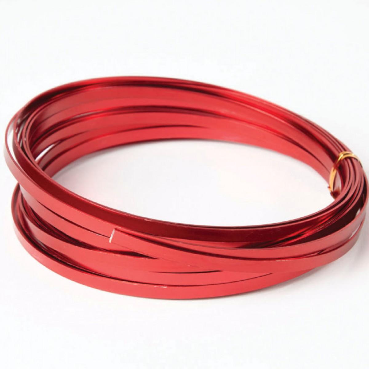 Flat Aluminium Wire Red 1mmx5mmx100g 1 No