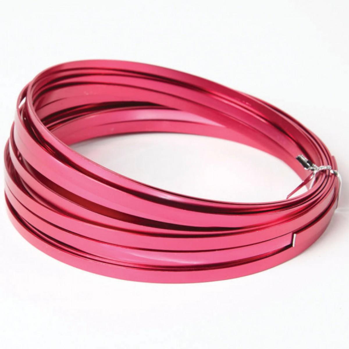 Flat Aluminium Wire Strong Pink 1mmx5mmx100g 1 No