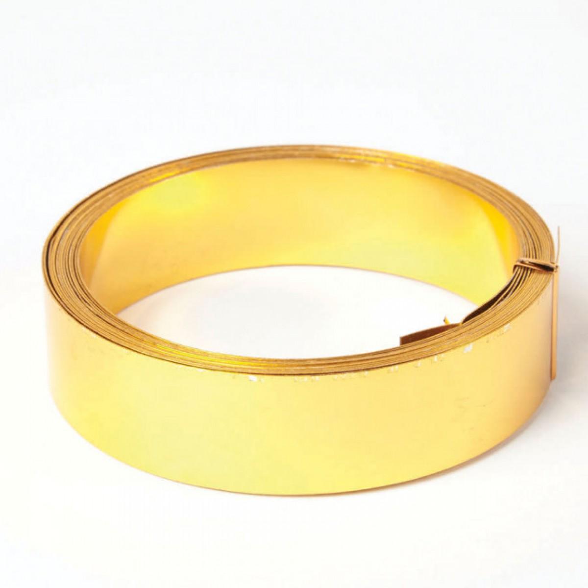 Flat Aluminium Wire Gold 30mmx0.5mmx5m 1 No