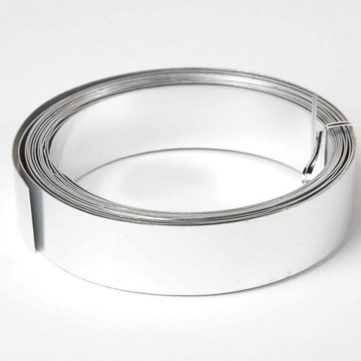 Flat Aluminium Wire Silver 30mmx0.5mmx5m 1 No