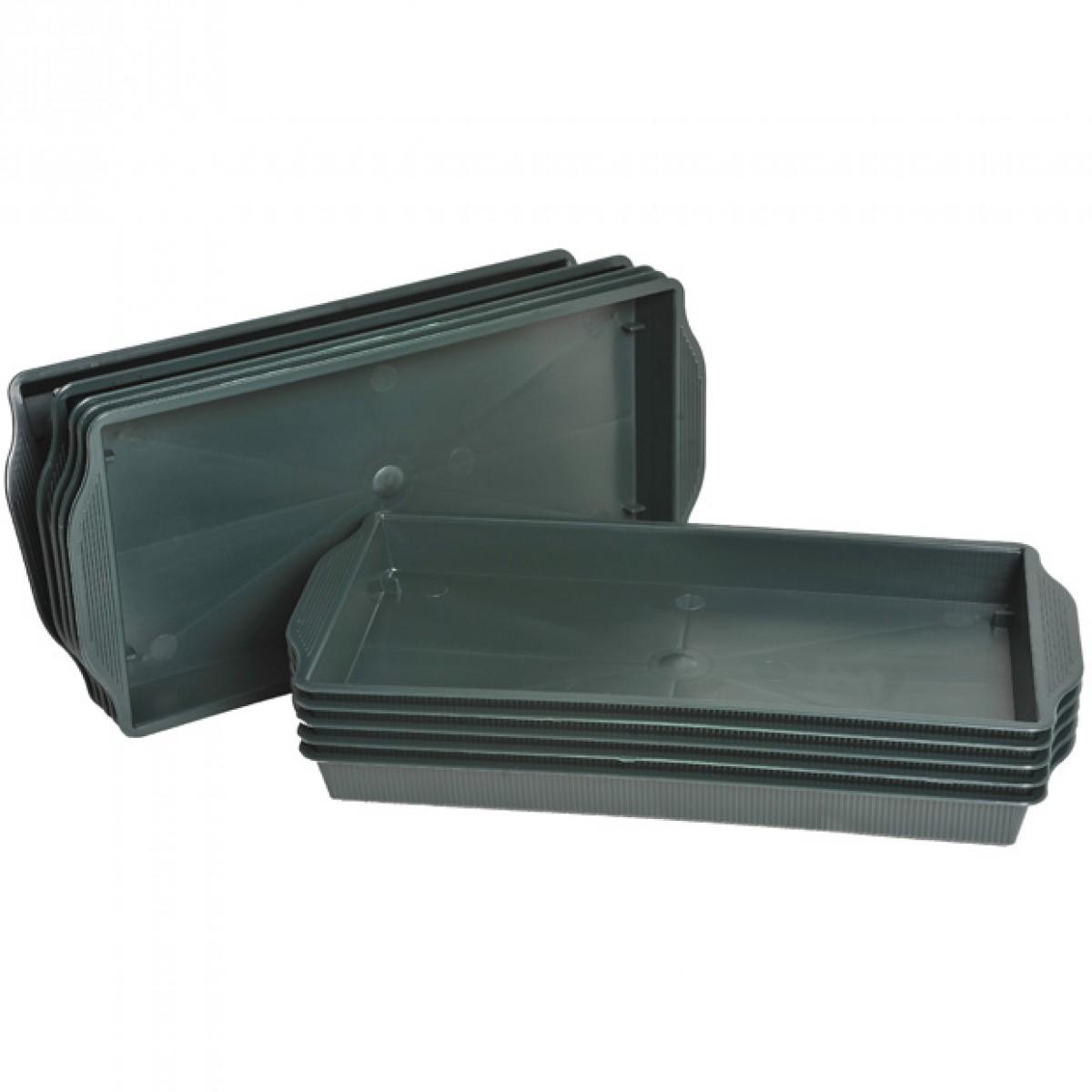 Single Brick Plastic Tray Green - 10 No