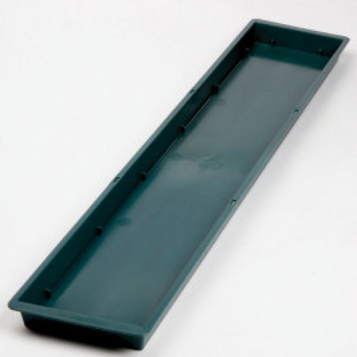 Double Brick Plastic Tray Green - 10 No