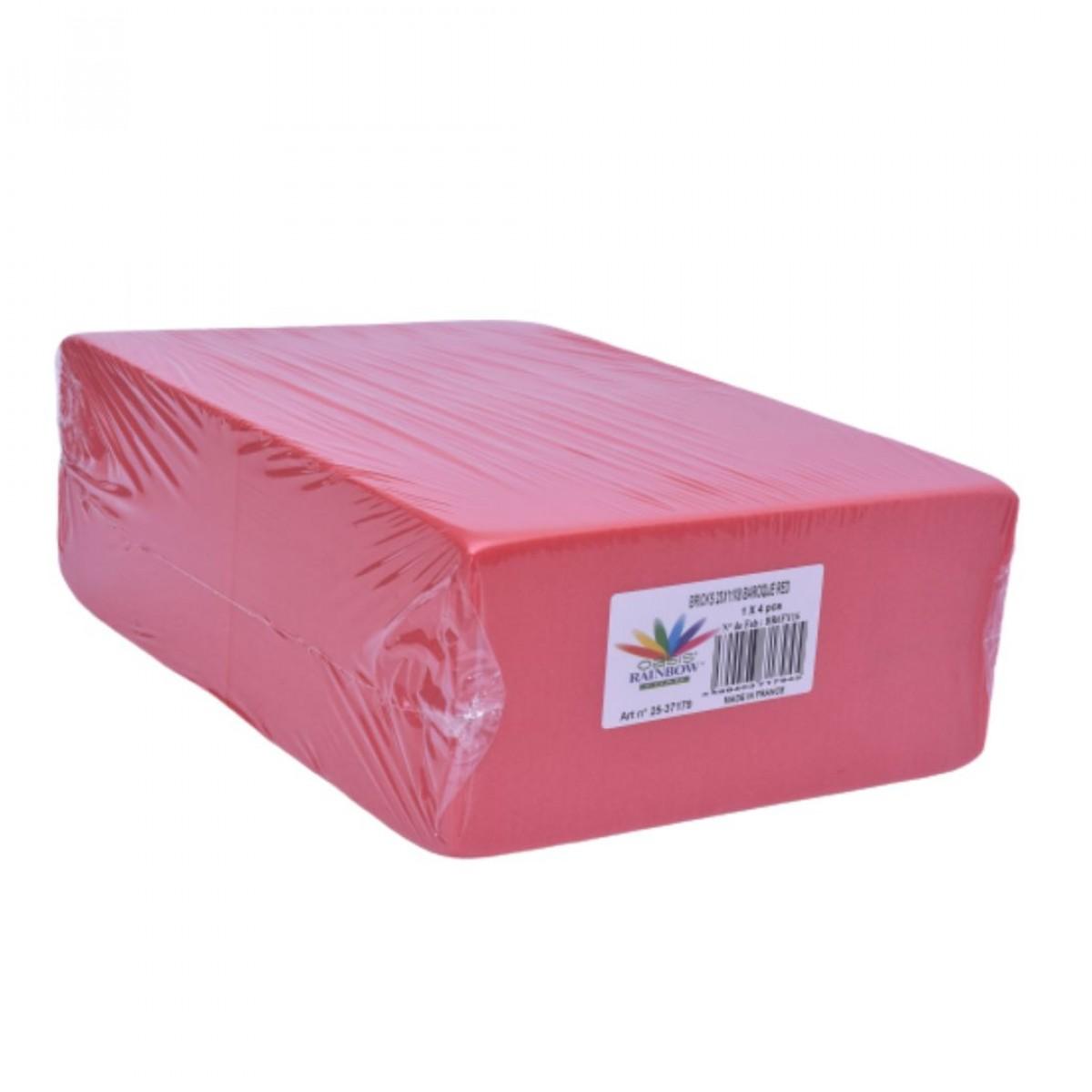 Brick Red  (4 No) - Colour Oasis Floral Foam