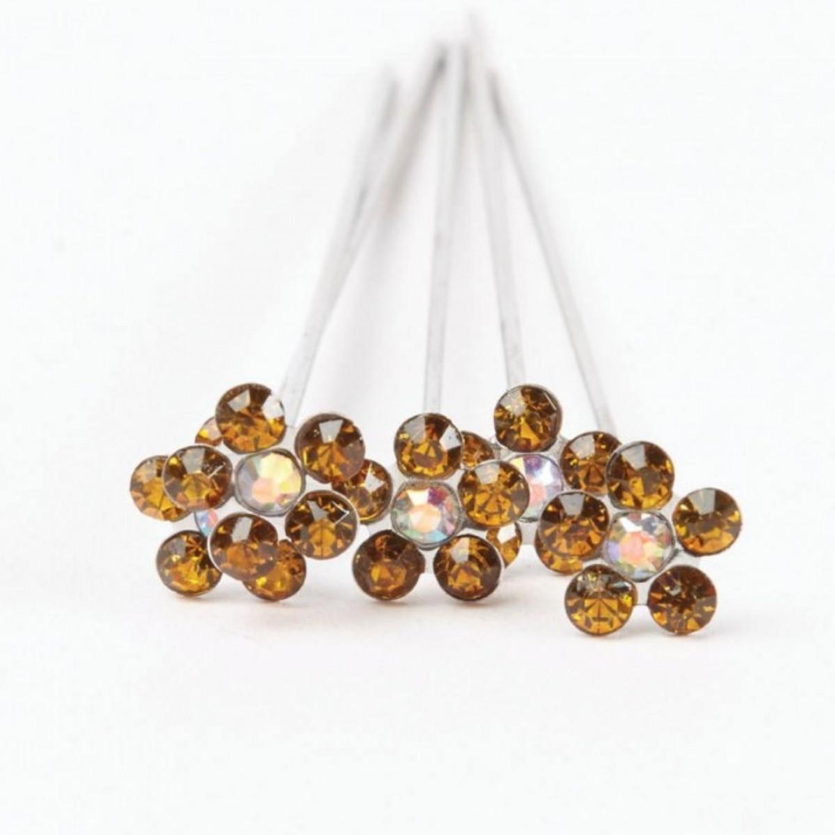Karas Kisses Pixie Brown Gold 10mmx8cm 5 Pins