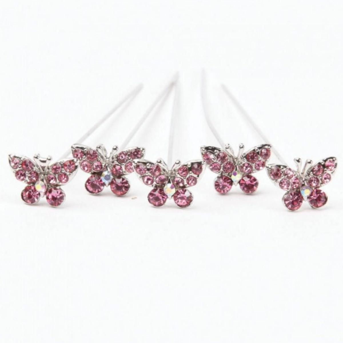 Karas Kisses Butterfly Pink 10mmx8cm 5 Pins