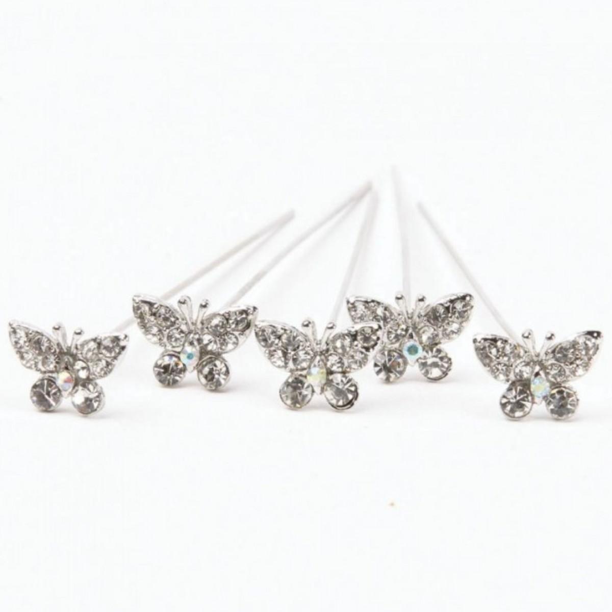 Karas Kisses Butterfly Diamond 10mmx8cm 5 Pins
