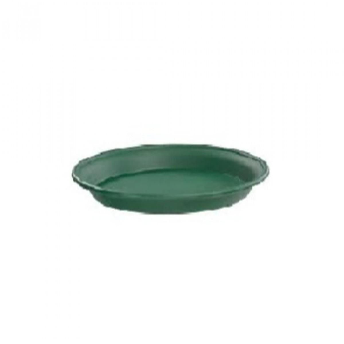 20CM Plastic Tray Green - 10 No