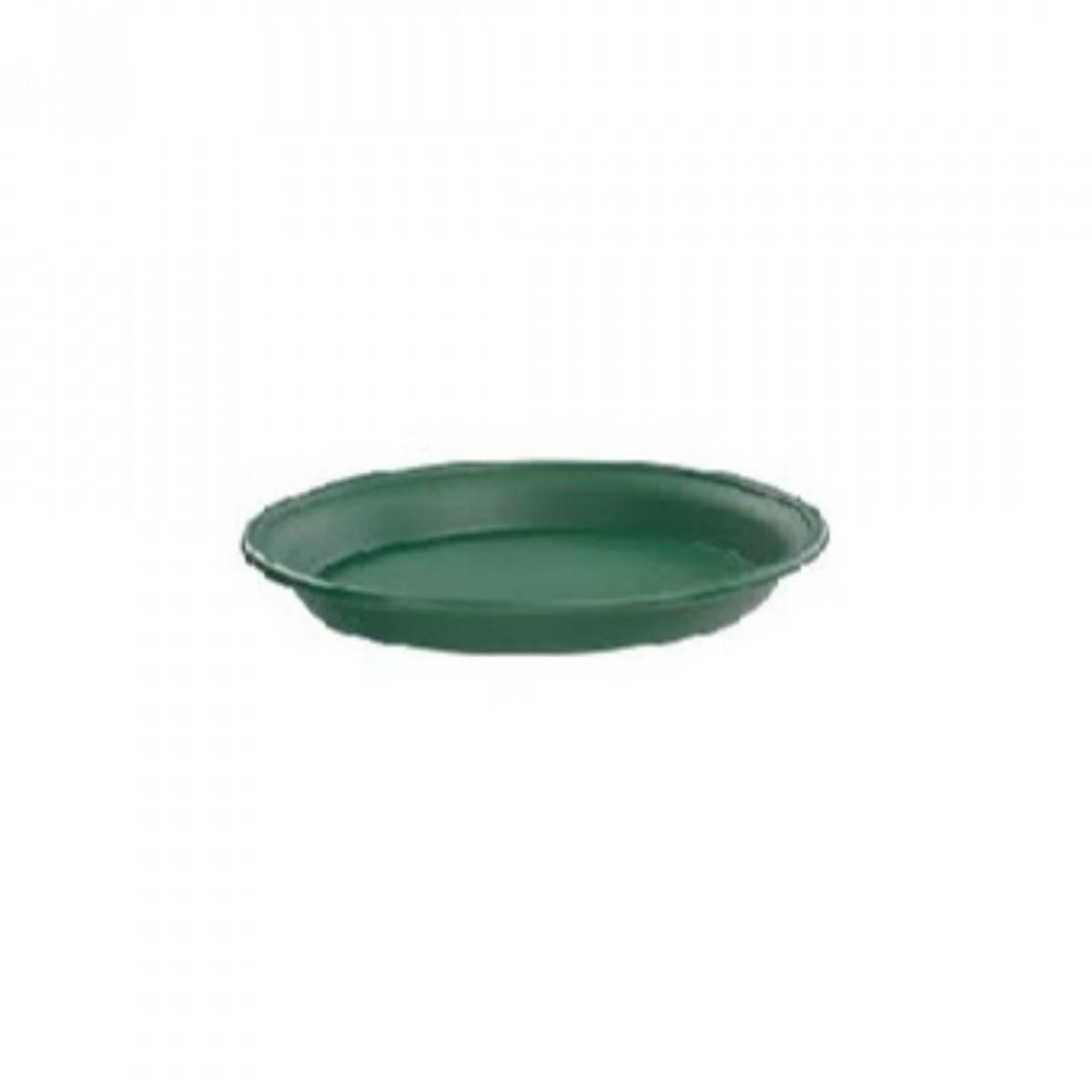 18CM Plastic Tray Green - 10 No