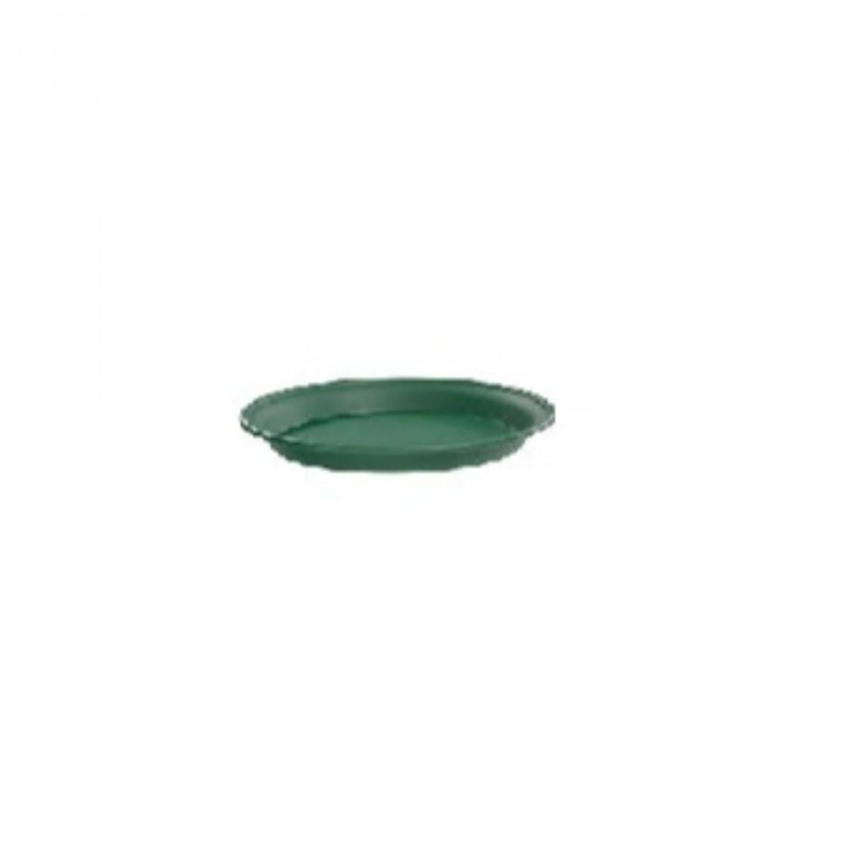 14CM Plastic Tray Green - 10 No