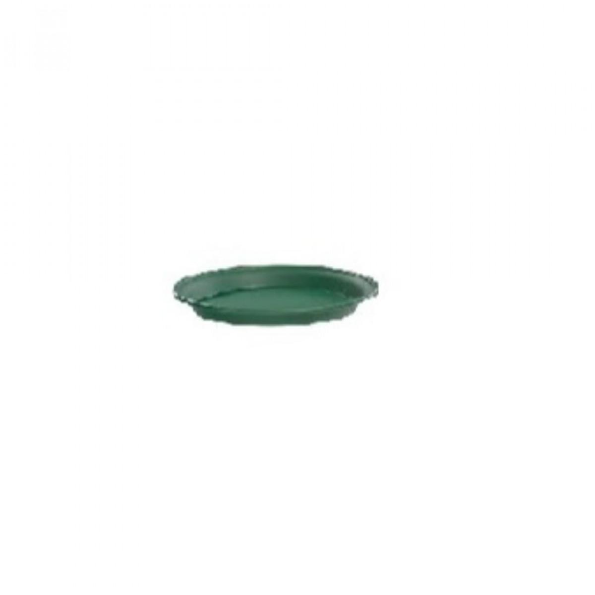 12CM Plastic Tray Green - 10 No