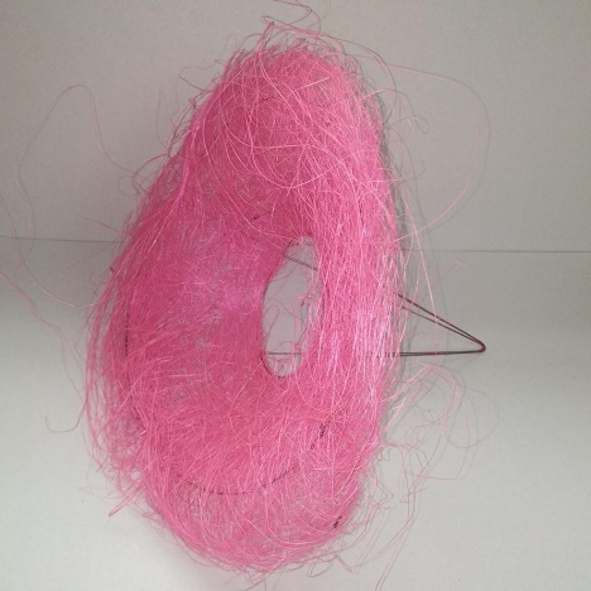 4214 Sisal Flower Collar Baby Pink 25x10cm (10 Nos)