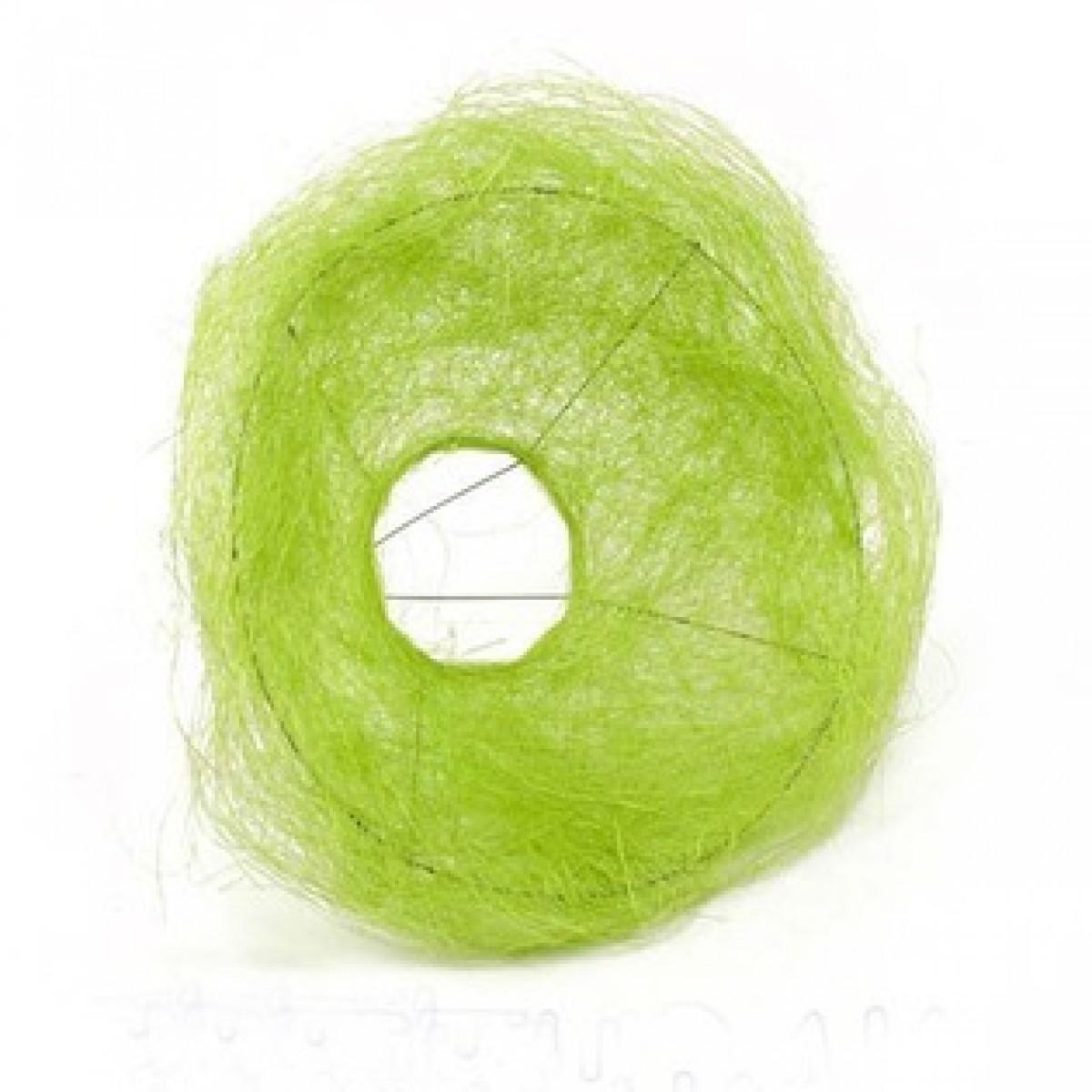4213 Sisal Flower Collar Apple Green 25x10cm (10 Nos)