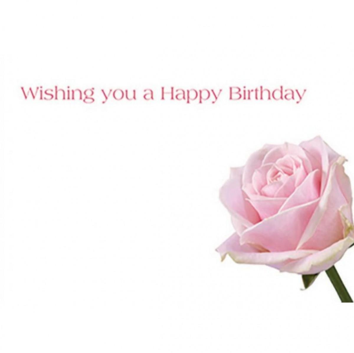 4508 Wishing Happy Birthday Day Rose Pink 9x6cm 50x1 Cards