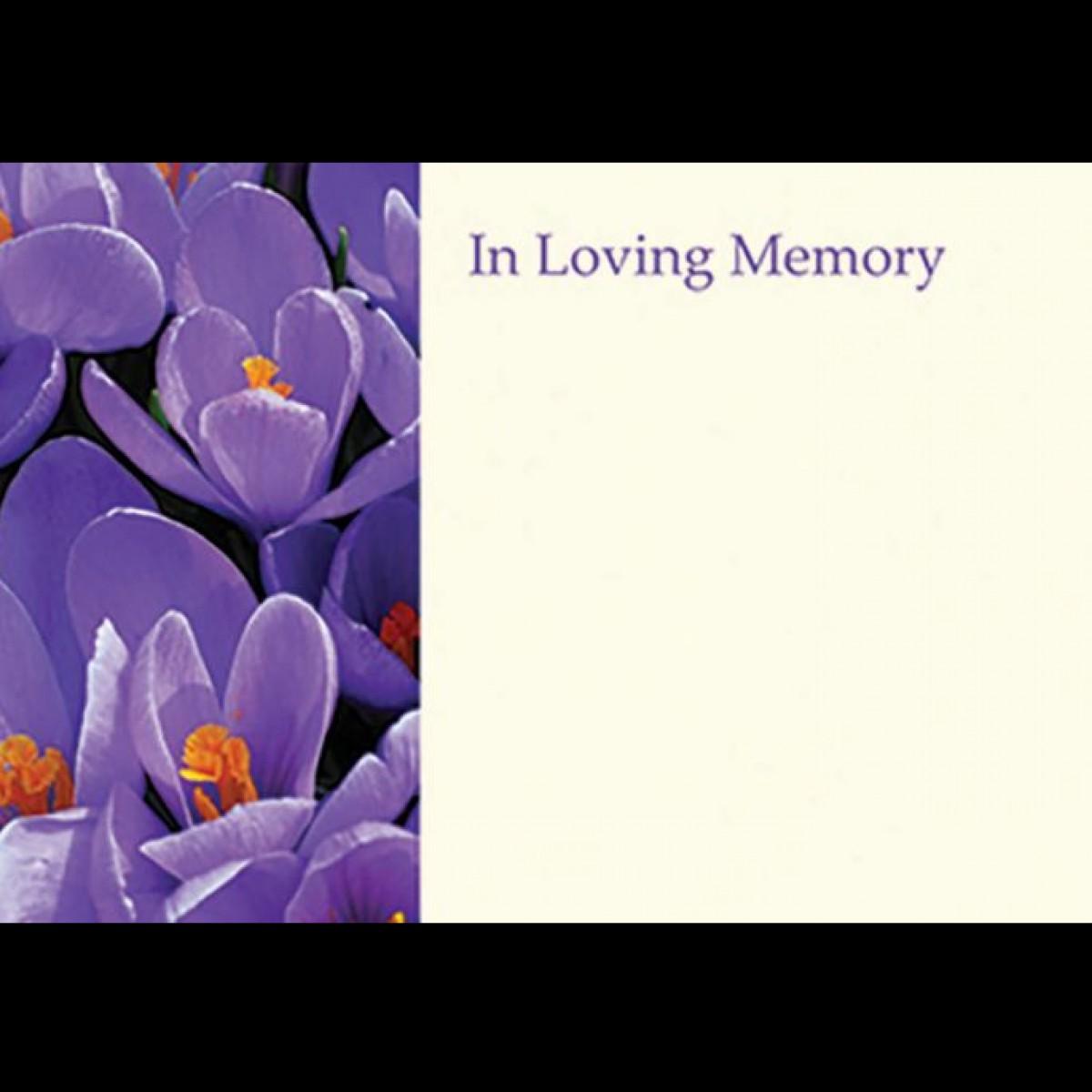 4504 I/L/MEM Crocus Purple 9x6cm 50x1 Cards