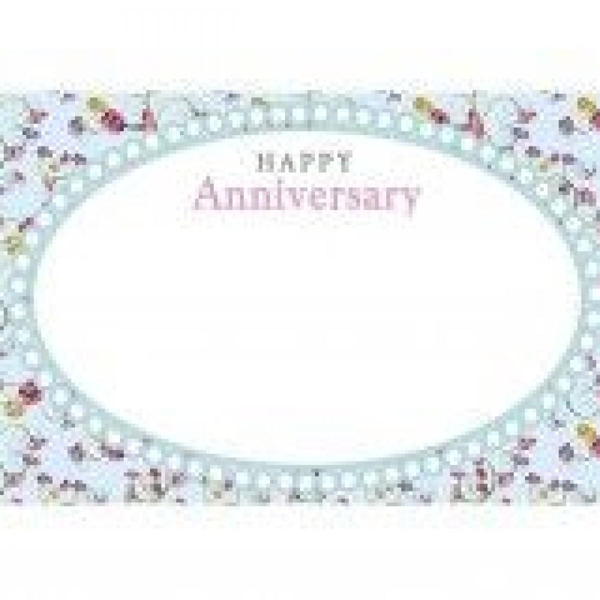 4501 Happy Anniversary Oval Window Blue 9x6cm 50x1 Cards