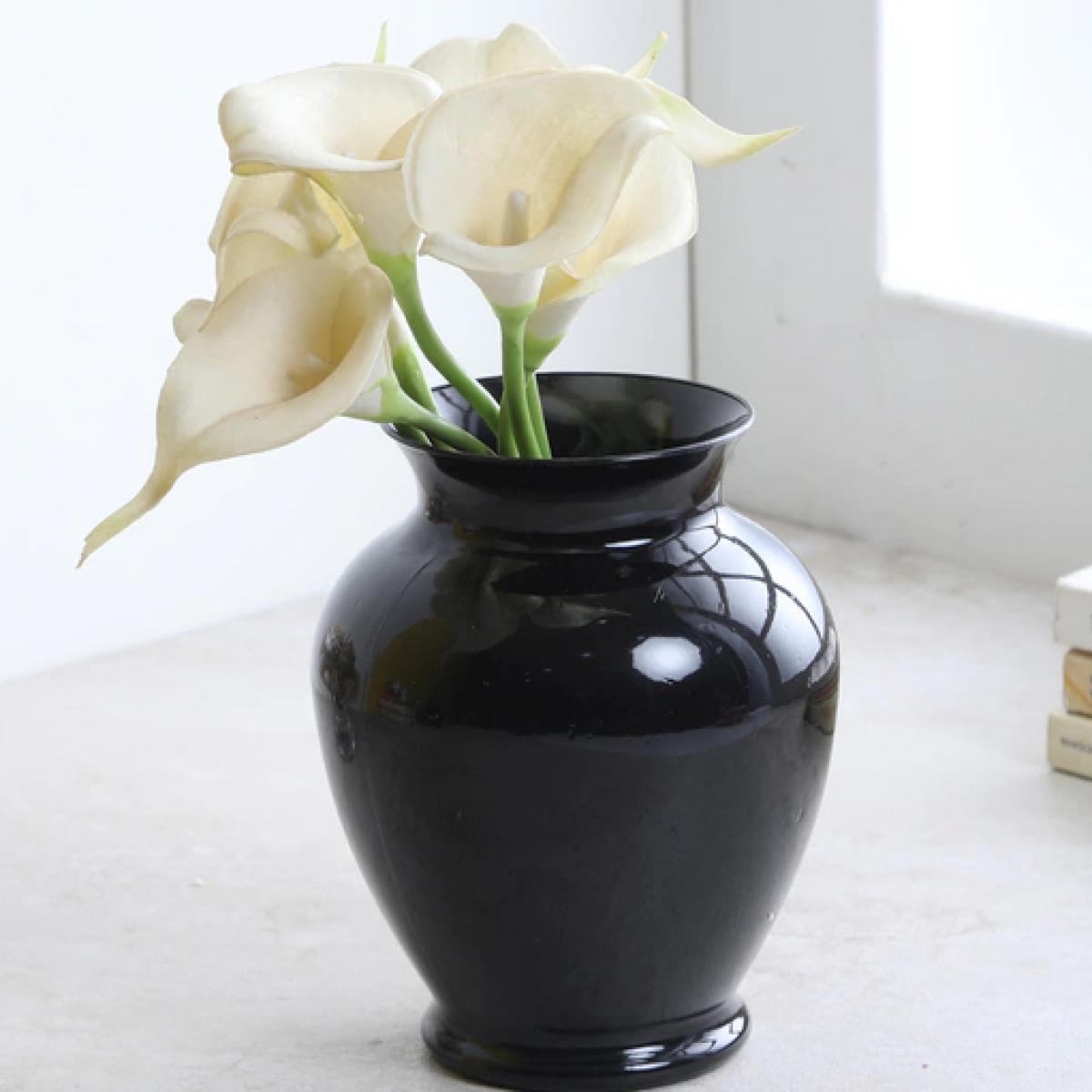 Ginger Black 9x16cm Acrylic Vase - 1 No