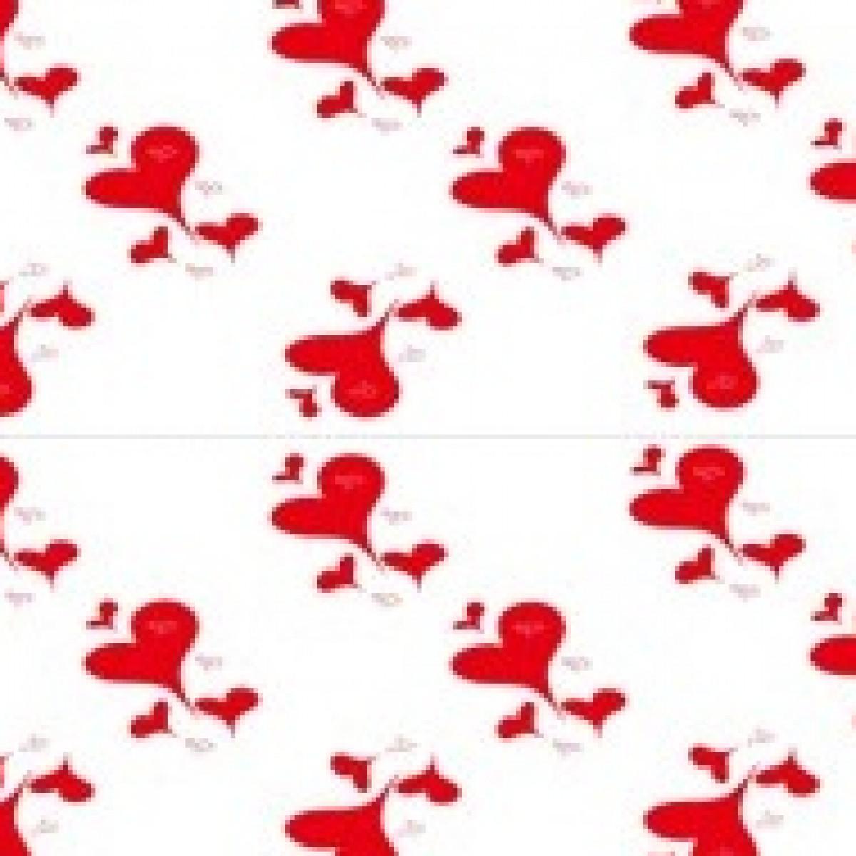 7063 Cute Hearts Red 80cmx25m 50mic Film - 1 Roll