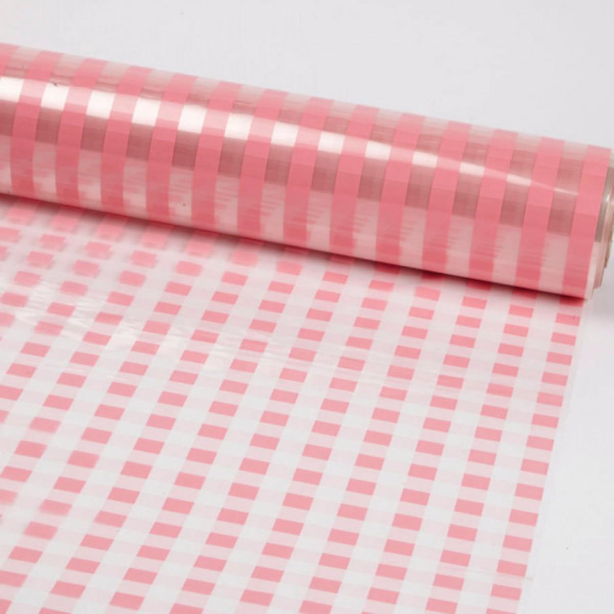 7007 Chex Pink 80cmx25m 50mic Film - 1 Roll