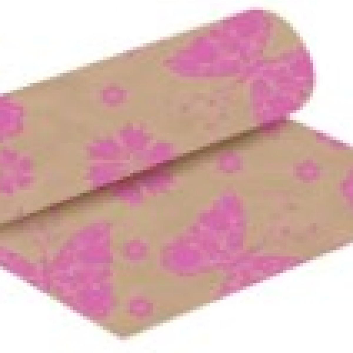 Butterflies Print Strong Pink 50cmx25m Kraft Paper -1 Roll