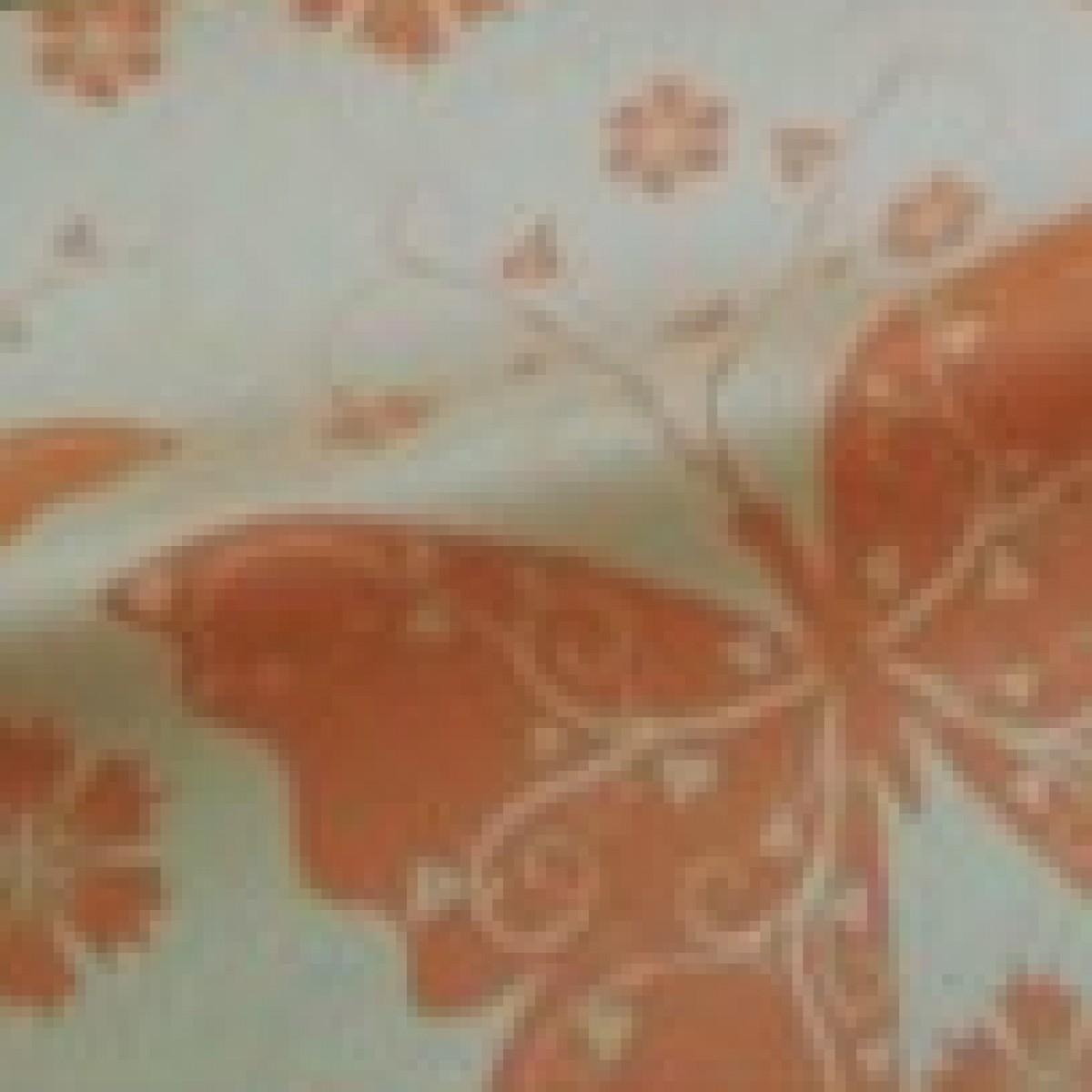 Butterflies Print Orange 50cmx25m Kraft Paper - 1 Roll