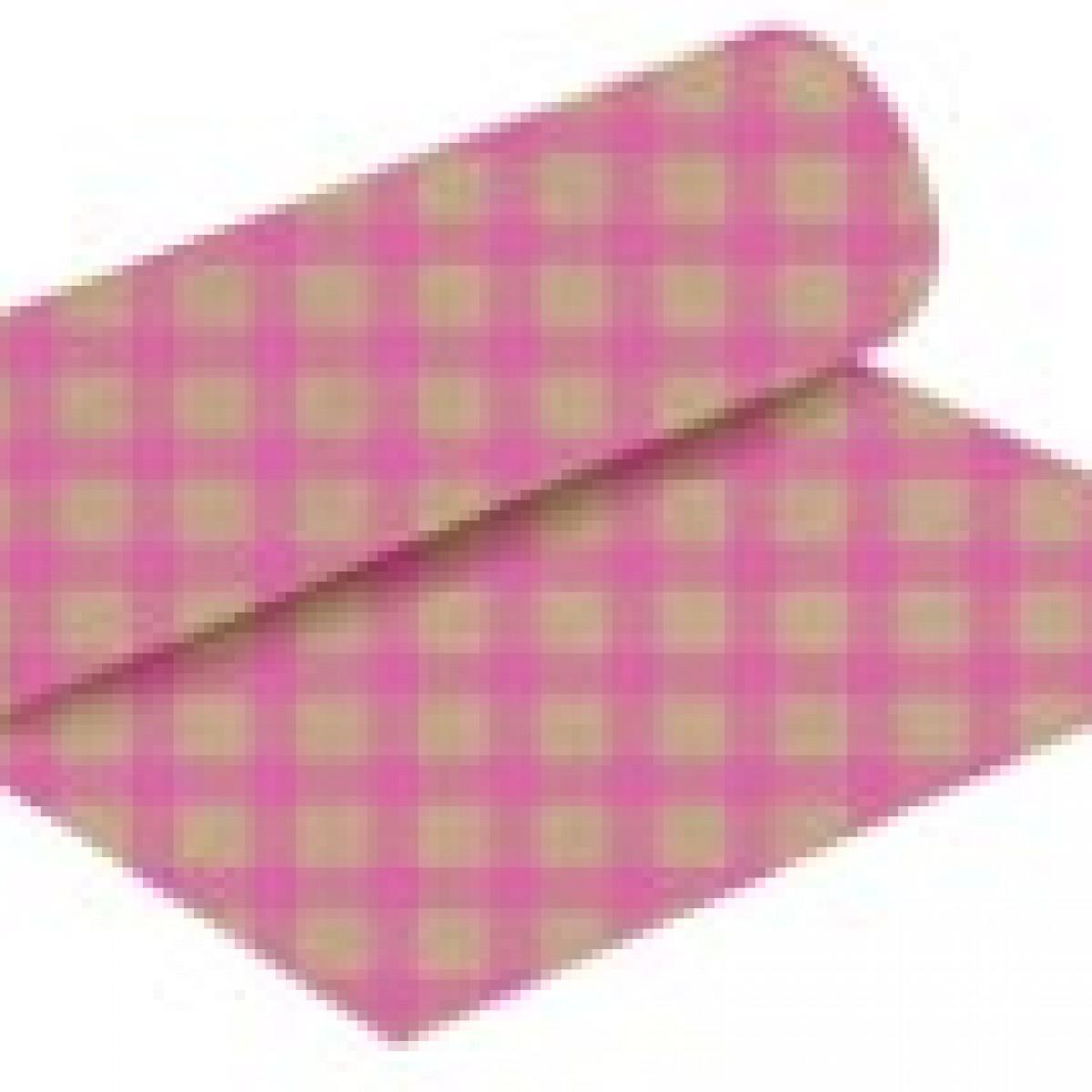 7211 Chex Print Strong Pink 50cmx25m Kraft Paper - 1 Roll