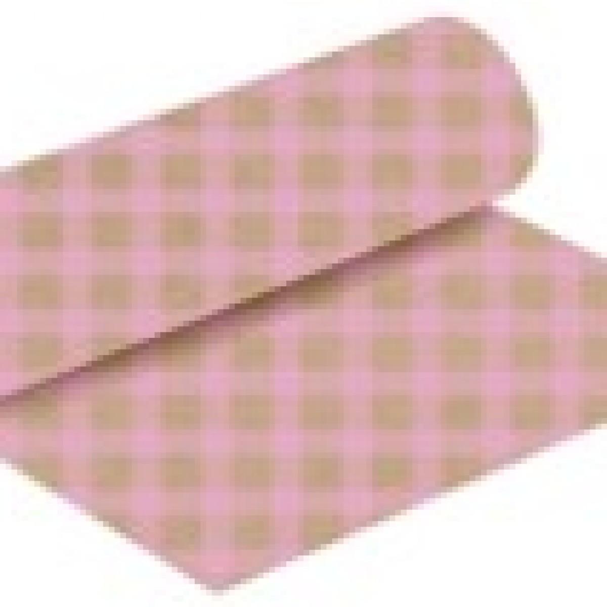 Chex Print Pale Pink 50cmx25m Kraft Paper - 1 Roll