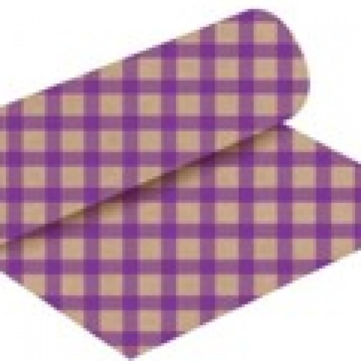 Chex Print Purple 50cmx25m Kraft Paper - 1 Roll