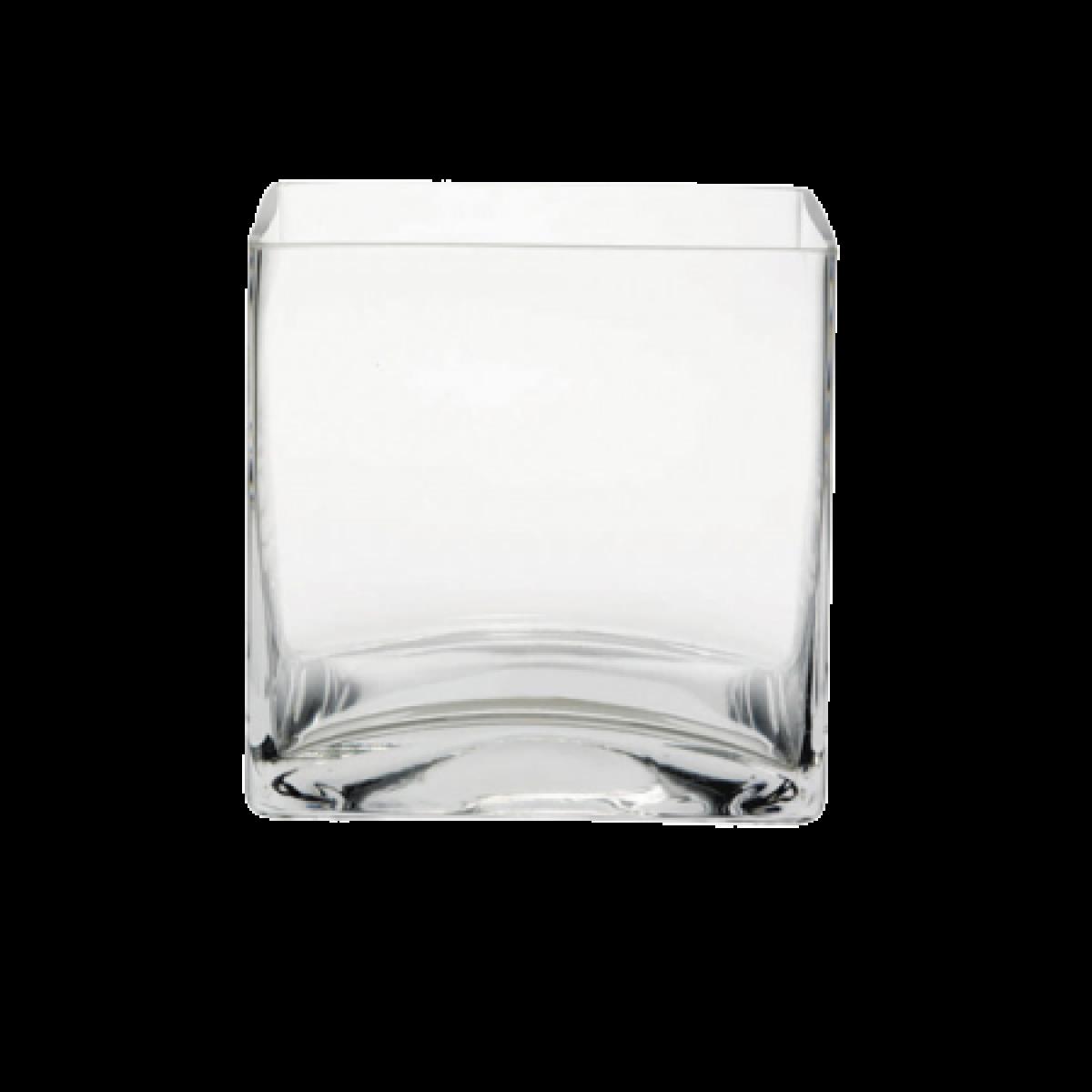Cube Clear 10x10x10cm Acrylic Vase - 1 No