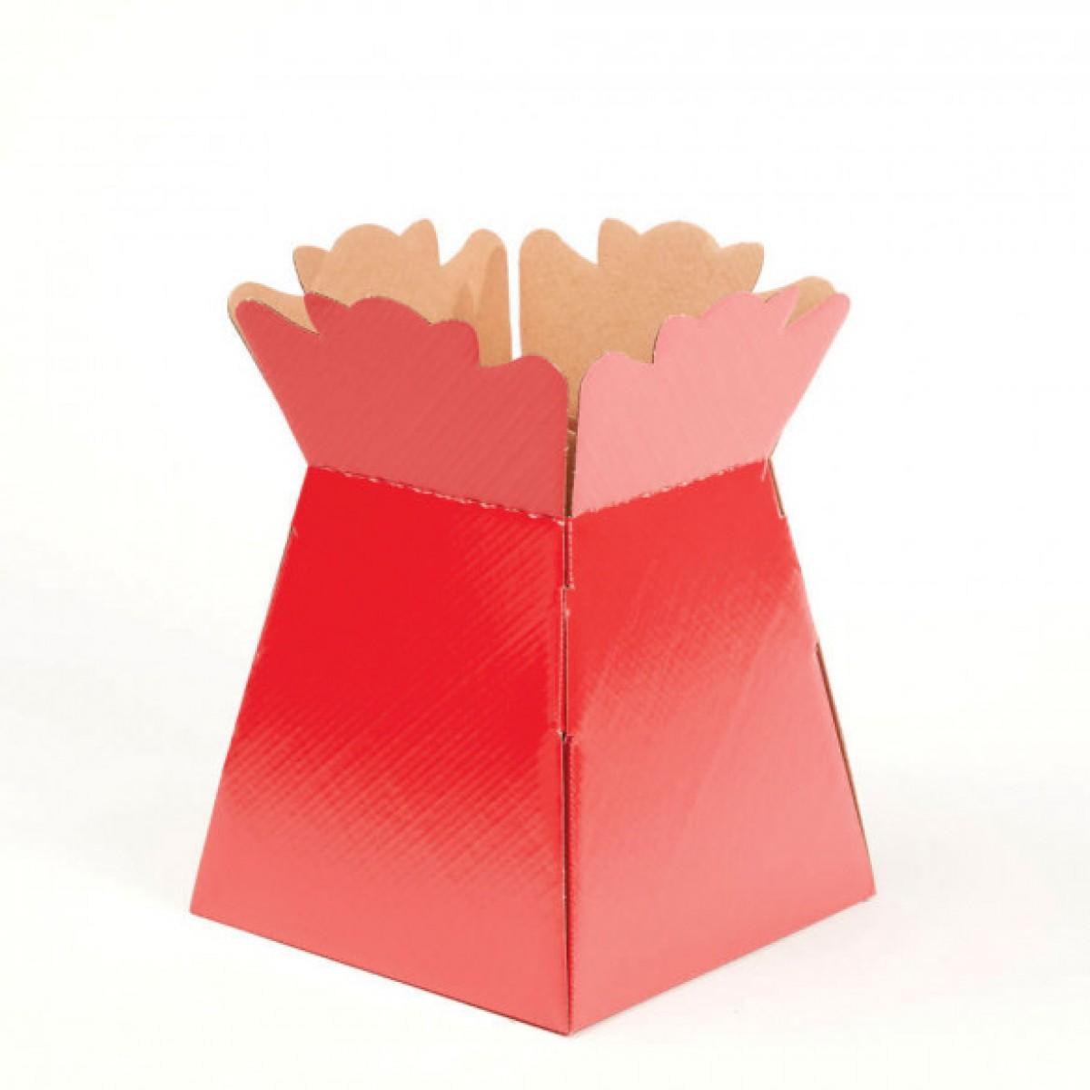 Porto Vase Red 17x24cm - Pack Of 5