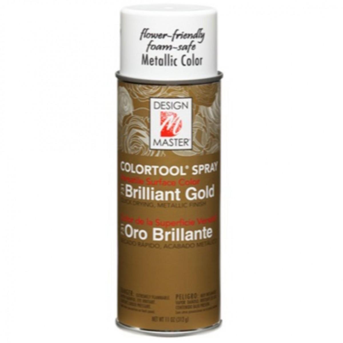 731 Brilliant Gold DM Metallic Colour Spray Paint - 1 No