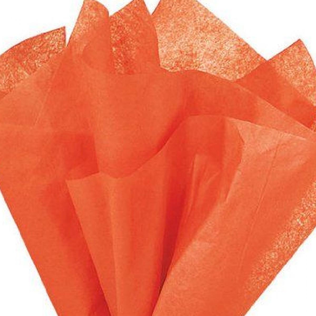 7516 Orange 75cmx60cm Tissue Floral Wraps - 100 Sheets