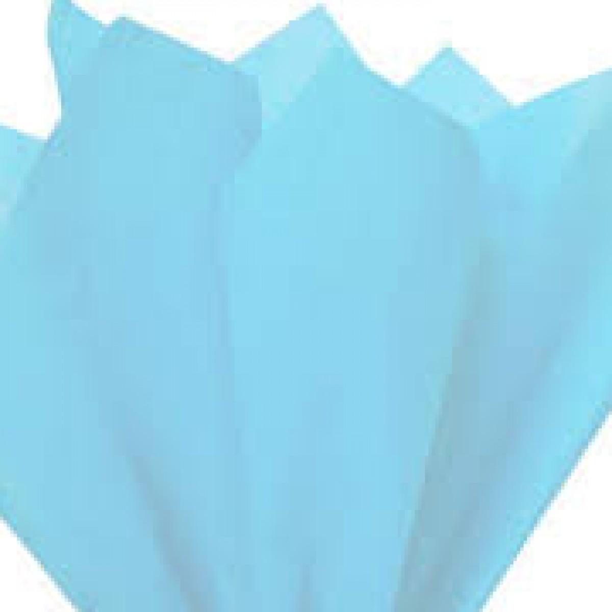7520 Sky Blue 75cmx60cm Tissue Floral Wraps - 100 Sheets